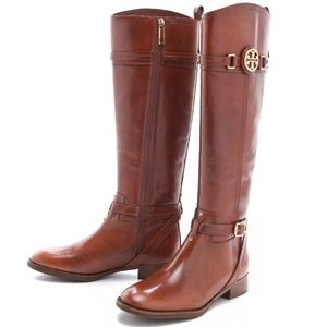 Tory Burch Calista knee high riding boots in brown